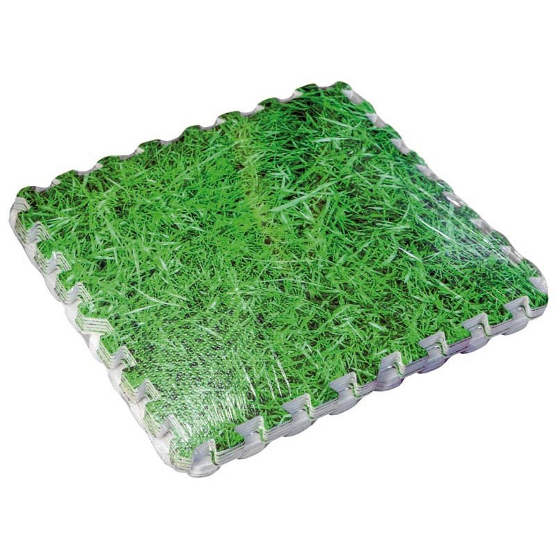 Tapices de suelo Protector suelo imitación hierva – 9 Ud. 50 x 50 cm
