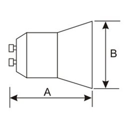 Bombilla dicroica LED GU10.