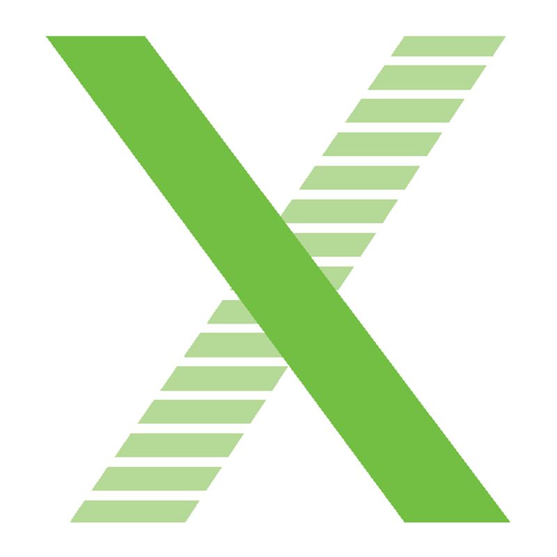 Plafón LED cuadrado de superficie.