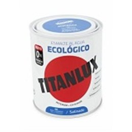 ESMALTE ECOLÓGICO AL AGUA SATINADO AZUL LUMI. 750ML TITAN 01T0539