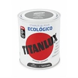 ESMALTE ECOLÓGICO AL AGUA SATINADO GRIS MED. 750ML TITAN 01T0549