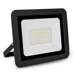 PROYECTOR LED PLANO NEGRO   50w.FRIA