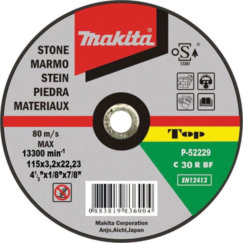 Disco de corte piedra 115mm