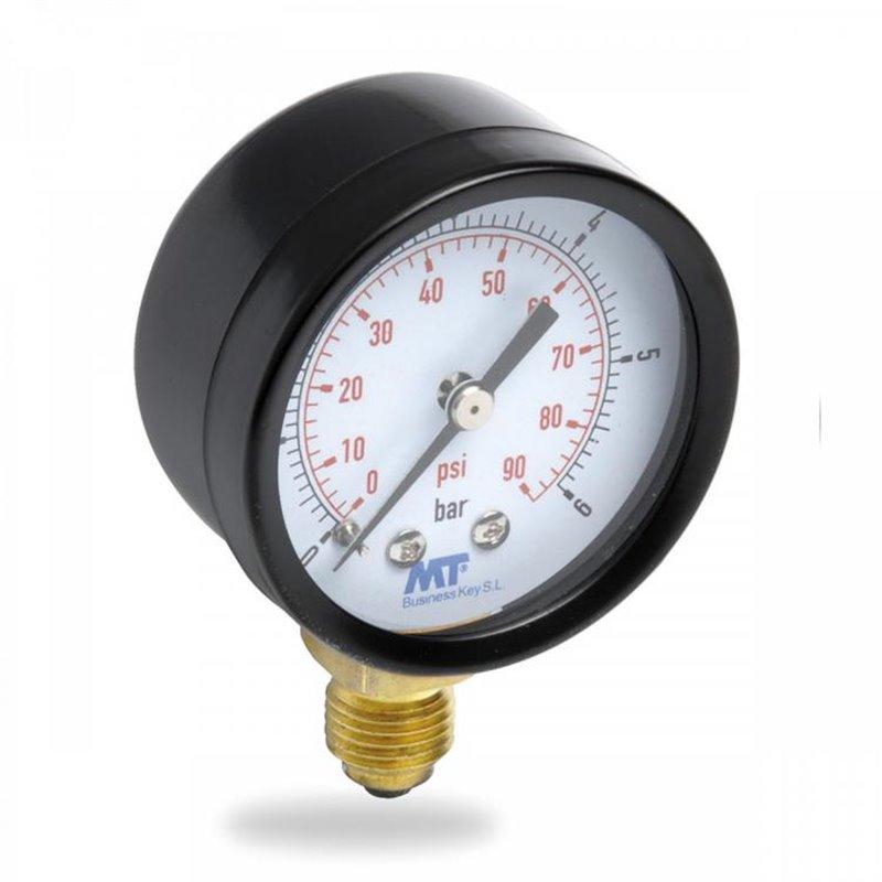 8500 Manómetro esfera seca DN 50 conexión inferior latón 0-10 BAR